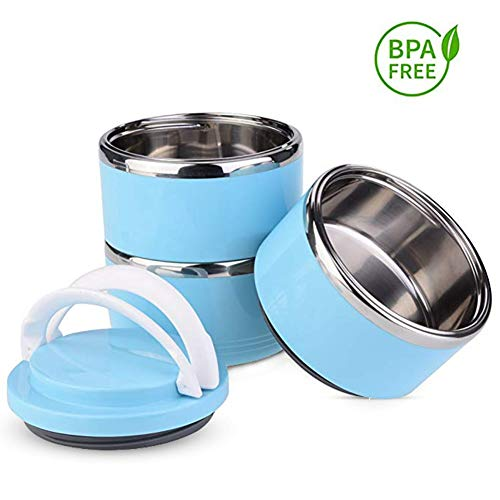 YOUTHINK Dog Travel Bowl Portable Spill Proof Pet Bowls Multiple Layers Pet Travel Water Food Container with Handle for Pet Outdoor Traveling (3 Layer)
