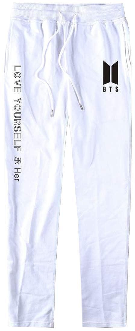 EmilyLe Womens BTS Love Yourself Trousers Casual Sweatpants Jogger Pants Jin Suga J-Hope RM Jimin V Jung Kook