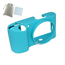 No.2 Warehouse Soft Silicone Armor Skin Rubber Protective Camera Case For Samsung NX500 (blue)+ a Piece of Clean Cloth