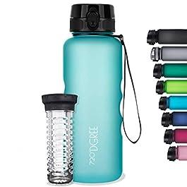 "720°DGREE Water Bottle ""uberBottle"" +Fruit Infuser – 1.5L – BPA-Free, Leakproof, Reusable – Large Tritan Bottle for Sports, Fitness, Outdoor, Hiking, Travel – Lightweight, Sustainable"