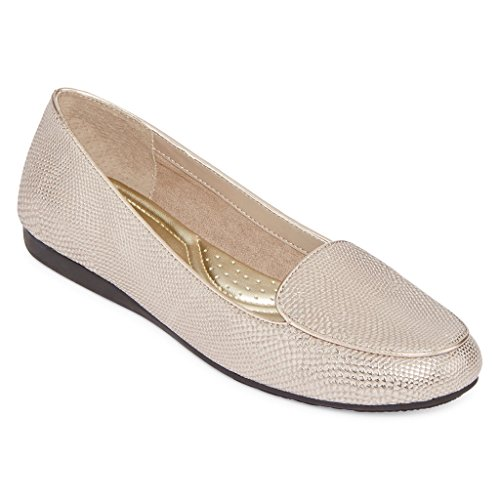 East 5th Elanor Slip On Flats Donna In Peltro 6 Medio