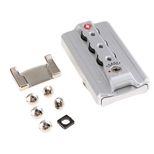 MagiDeal TSA 007 Aluminum Luggage 3 Digit Combination Lock Suitcase Secure Code Lock Padlock - Portable and Lightweight - Silver
