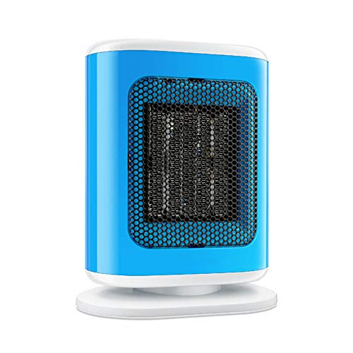 Mokylor Mini Space Heater PTC Ceramic Electric Heater 220V 500W for Dormitory Desktop Bedroom Home Car Office Use (Blue)
