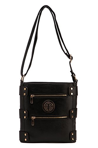 Body Handbag MKF Collection Black Cross Multiple Pocket wRqIZrpRX7