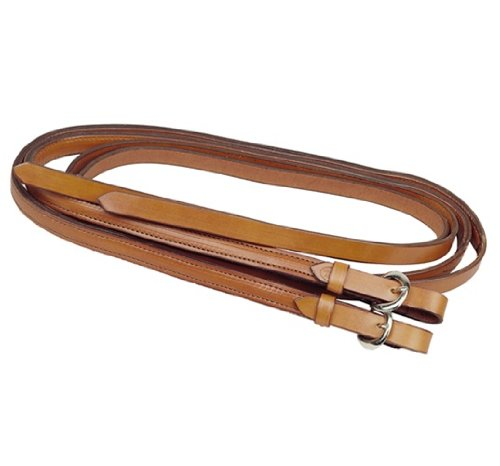 Tory Leather Partial Double & Stitched Split Weighted Reins ()