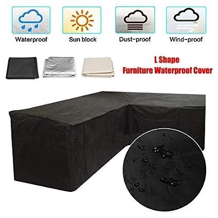 Outdoor L Shape Furniture Cover Waterproof Corner Garden Rattan Sofa Protective