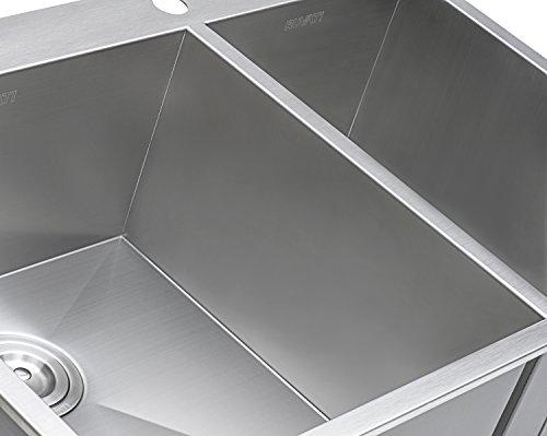 Ruvati Inch Drop-in Bowl 16 Topmount Steel Kitchen Sink