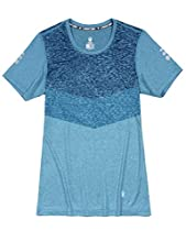 Little Donkey Andy Women's Quick Dry Sweat Wicking Short Sleeve T-Shirt Sun Protection Athletic Workout Running Hiking Tee Heather Aqua L