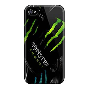 Apple Iphone 4/4s JQL3831JLog Provide Private Custom Attractive Monster Drink Up Pattern Excellent Cell-phone Hard Cover -JoannaVennettilli