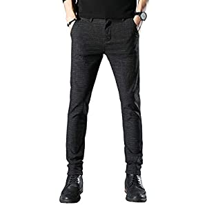 Movard Men's Slim Fit Casual Pants Wrinkle-Free, Flat Front Trousers Dress Pants for Men