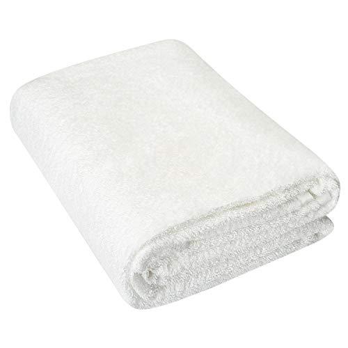 HOMEIDEAS Luxury Bath Sheet, Machine Washable, Super Soft & Highly Absorbent Bath Towel for Bathroom, Cotton35 x 80 inches, White