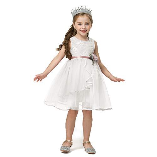 TTYAOVO Mouwloze vintage jurk voor meisjes, zomer, ronde hals, retro, polkadot, partyjurk.