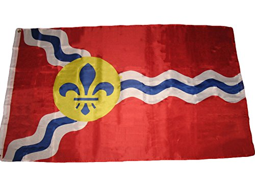 ALBATROS 3 ft x 5 ft St Louis Flag City of Saint Louis Missouri Banner Grommets Premium for Home and Parades, Official Party, All Weather Indoors Outdoors]()