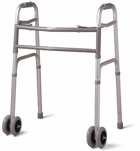 Guardian Bariatric Folding Walker with 5'' Wheels