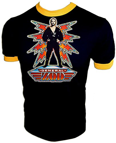 - Original 1980 D.C. Comics Superman II General Zod Movie Licensed Vintage Print Unused Ringer T-Shirt