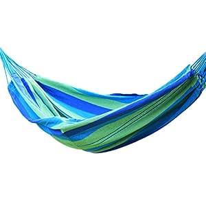 Homebeez Durable Outdoor Single-Person Hammock Bed, Beach Oasis