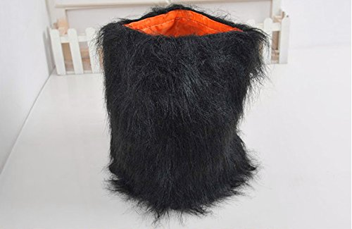 Picture of Lion Mane for Dog Pet Costume - FMJI Dog Clothes Lion Wig with Ears for Halloween Festival Party  (Black)