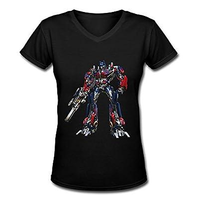 GLYCWH Women's Transformers Optimus Prime T-Shirt Short Sleeve