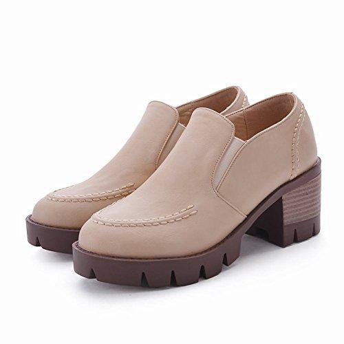 Mee Shoes Damen chunky heels Geschlossen Plateau Pumps