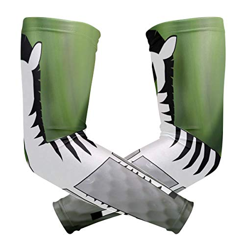 Arm Sleeves Zebra Peace Sign White Golf Ball Mens Sun UV Protection Sleeves Arm Warmers Cool Long Set - Sign Uv Ball Peace
