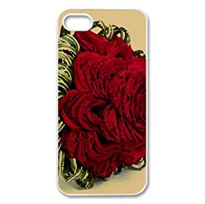 Red Rose Bridal Bouquet Watercolor style Cover iPhone 5 and 5S Case (Flowers Watercolor style Cover iPhone 5 and 5S Case)