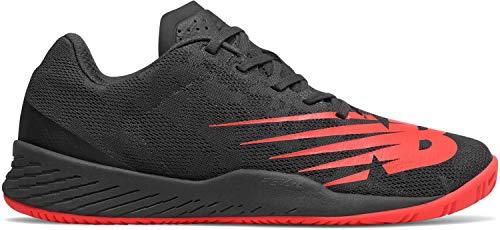 New Balance Men's 896v3 Hard Court Tennis Shoe, Black/Energy RED, 9 2E US