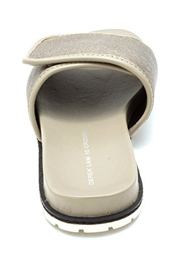 Derek Lam Womens Spence Open Toe Casual In Peltro