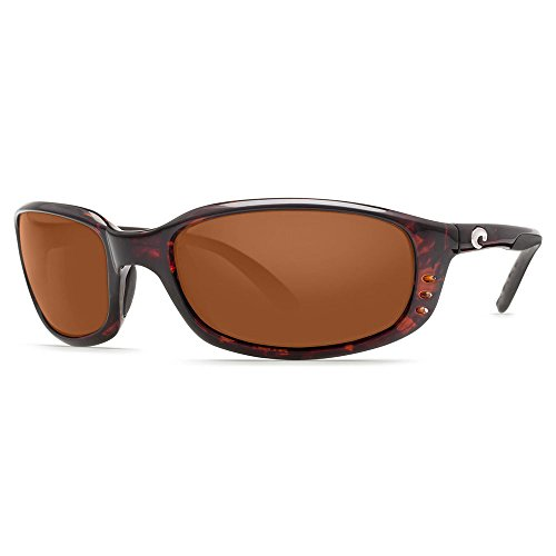 Costa Del Mar Brine Polarized Sunglasses, Tortoise, Copper - Sunglasses Angler Costa