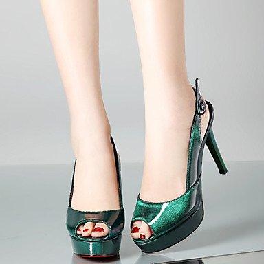 LvYuan Tacón Stiletto-Zapatos del club-Sandalias-Oficina y Trabajo Fiesta y Noche Vestido-PU-Negro Rosa Pink