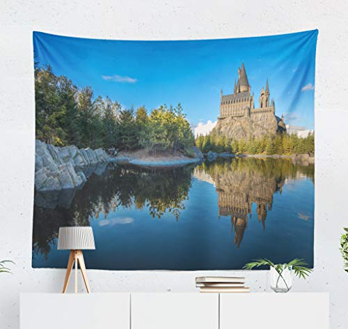 Japan Universal Studio Halloween (ONELZ Wall Hanging Tapestry Universal Studio Japan Castle Beautiful Fun Happy Holiday Park People School Sky Decor Collection Bedroom Living Room 60 L X 80 W Polyester Polyester)