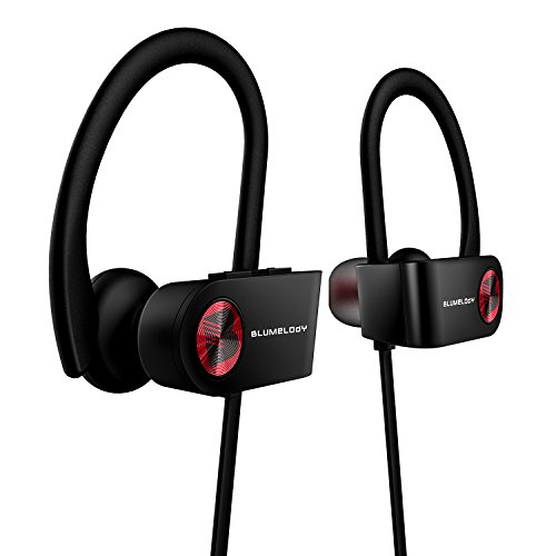 Bluetooth Headphones, Wireless Sports Headphones, Blumelody In-Ear Wireless Earbuds Built-in Mic IPX7 Waterproof HD Stereo Sound Noise Cancelling Wireless Earphones for Running Jogging Hiking Gym