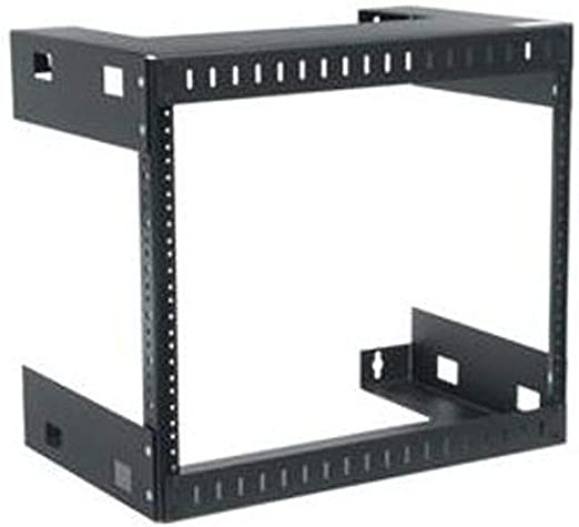 Amazon Com Wall Mount Open Frame Rack Rack Spaces 14 H 8u Space Depth 12 Home Kitchen