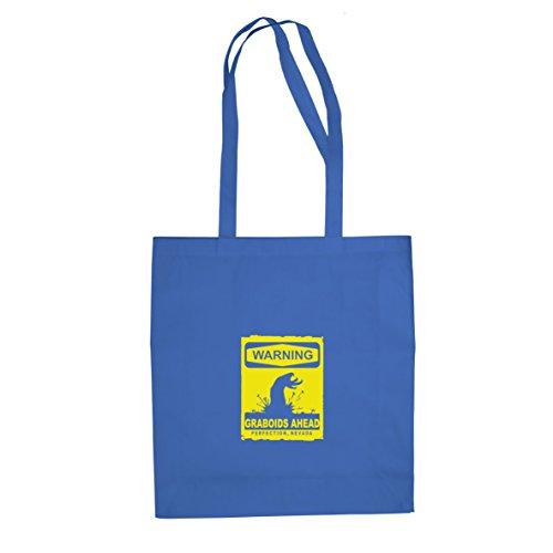 Warning Graboids - Stofftasche / Beutel, Farbe: blau