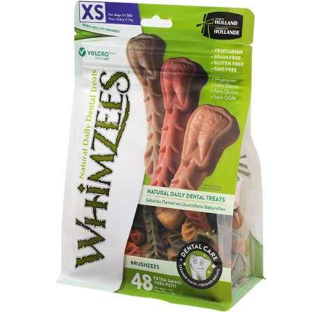 WHIMZEES Brushzees Dental Dog Treats XSmall (48 Count)
