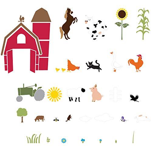 My Wonderful Walls Farm Animal Wall Mural Stencil Kit For -