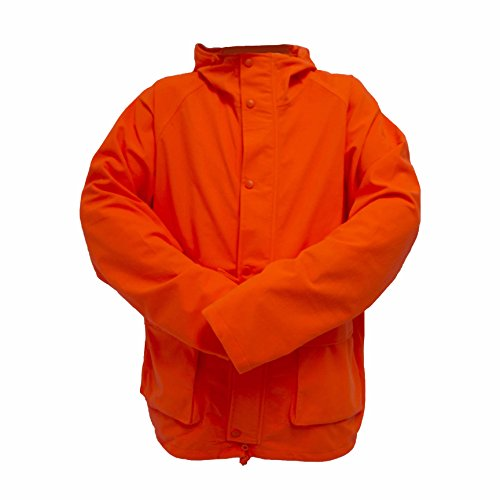 (Wildfowler Outfitter Men's Waterproof Parka, Blaze Orange, Large)