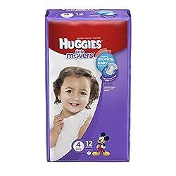 Huggies Little Movers Sz 4 Lot of 2-12 Packs