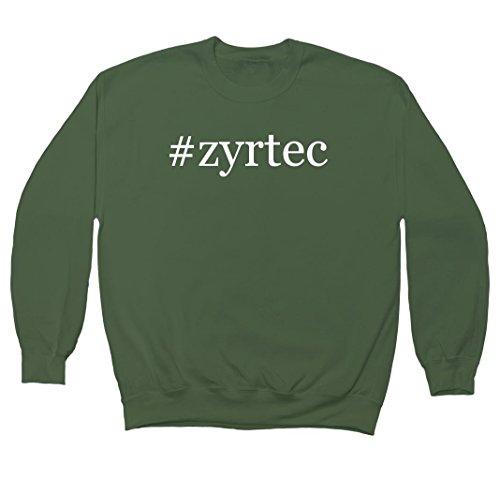zyrtec-hashtag-mens-crewneck-fleece-sweatshirt-military-xxx-large