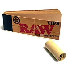 500 RAW Rolling Papers Filter Tips (10 Booklets of 50) Standard Size Vegan