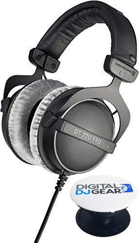 Beyerdynamic DT 770 PRO 80 Ohm Professional Quality Closed Studio Headphone Free Pop Socket