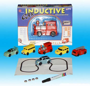 (Inductive Car Diecast Vehicle Magic Pen Toy Tank Random Enginering Car Follow The Lines You Draw Xmas Gifts for Kid Random)