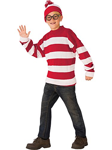 Rubie's Deluxe Child's Where's Waldo Costume, Medium ()