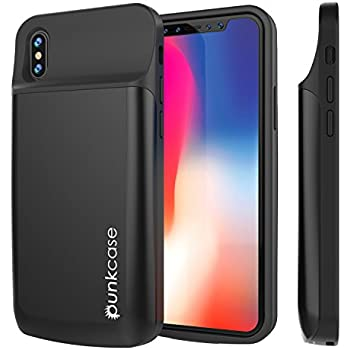 big sale 7d847 7a6b8 iPhone X Battery Case, PunkJuice 6000mAH Fast Charging Power Bank W/ Screen  Protector | Integrated USB & Lightning Port | Slim, Secure and Reliable |  ...