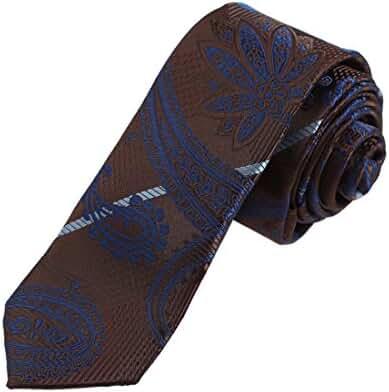 DAE7B.02 Series Patterned Microfiber Skinny Tie Formal Wear Gift By Dan Smith