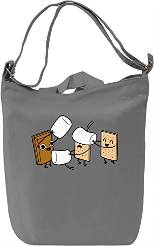 How S'mores Are Made Borsa Giornaliera Canvas Canvas Day Bag| 100% Premium Cotton Canvas| DTG Printing|