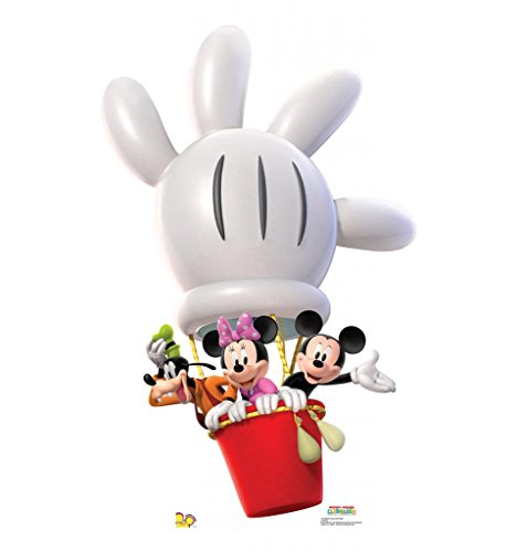 Mickey Balloon Ride - Disney's Mickey Mouse Clubhouse - Advanced Graphics Life Size Cardboard (Goofy Balloons)