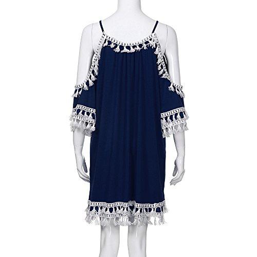 Vintage con armature Cocktail abito Dresses nappa spalle da Moginp spiaggia spalle Short Donna xwXO7tq