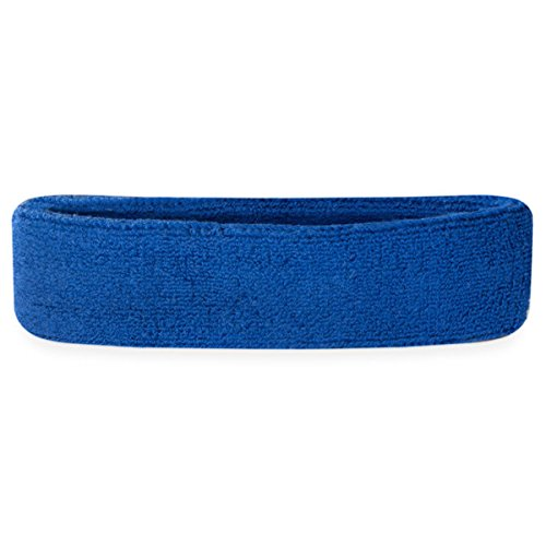 Suddora Kids Headband (Multiple Colors Available)Athletic Cotton Terry Cloth Head Sweatband for Sports (80s Basketball Costume)