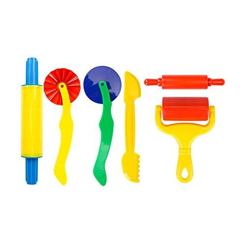 Rimobul Deluxe Multi-functional Dough Tools Kit for Kids - 6 Pieces Assortment Cutter Assortment