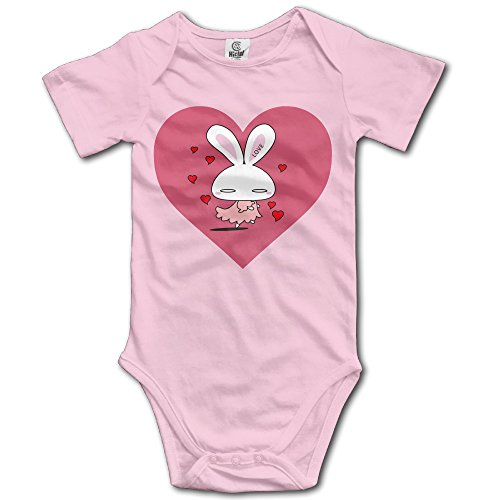 [GMRLOVE Rabbit Heart Short-Sleeve Romper Vest For 6-24 Months Infant 24 Months Pink] (Costume Design Online Classes)